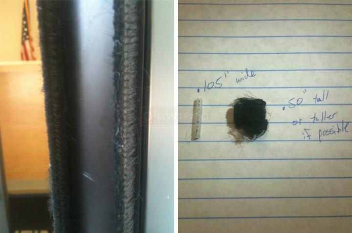 Door Weather Stripping >> Vistawall MetalGlass Double Door Vertical Seal : SWISCO.com