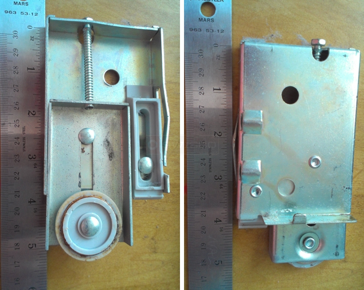 User submitted photos of a mirror door roller.