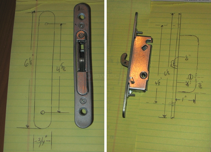 User submitted photos of a patio door lock.