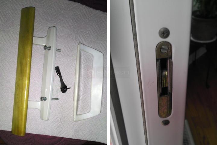 User submitted photos of patio door hardware. & Silverline handlesmortise lock : SWISCO.com