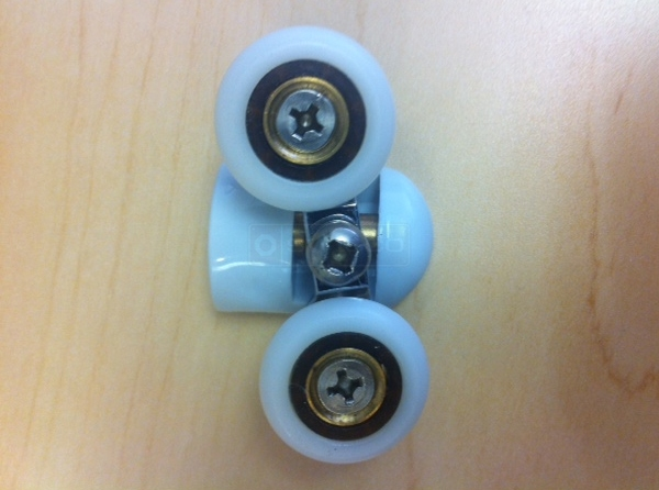 User submitted a photo of shower door rollers.