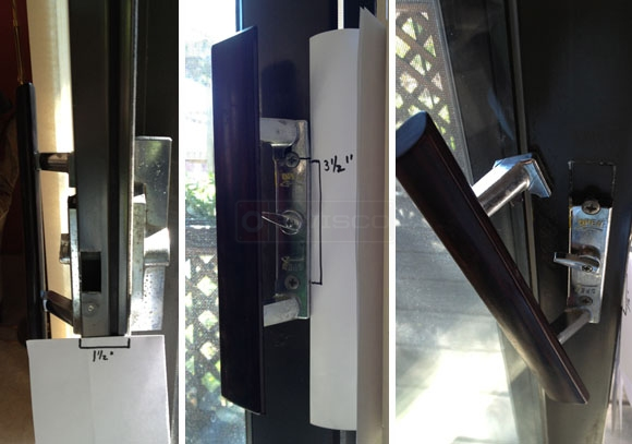 A customer submitted image of their patio door handle.