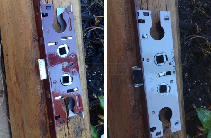 User submitted photos of a mortise lock.