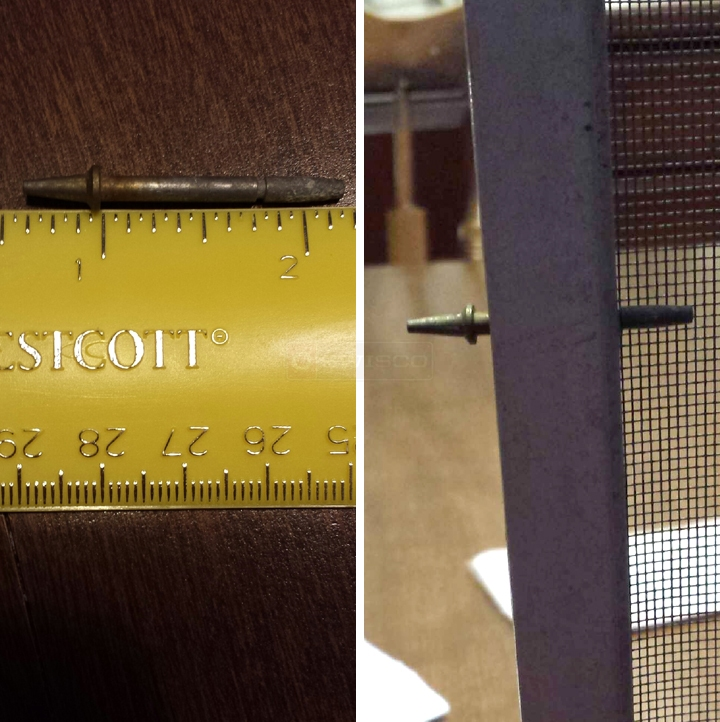 User submitted photos of a screen pin.