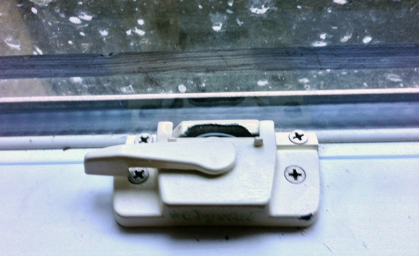 User submitted photos of a window lock and keeper.