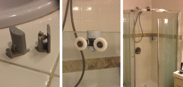 user submitted photos of shower door hardware - Glass Shower Door Hardware