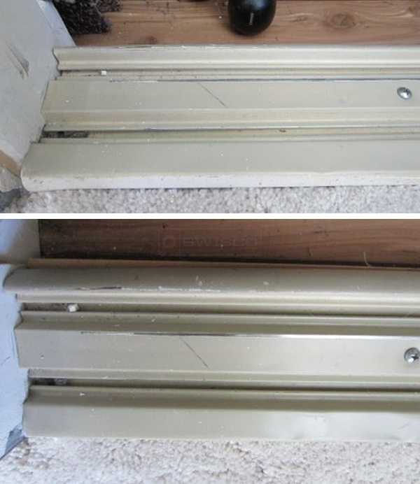 User submitted photos of closet door track.