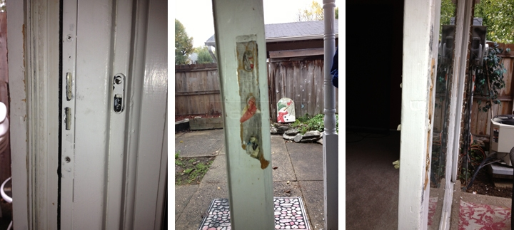 User submitted photos of patio door hardware.