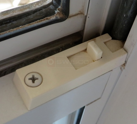 A customer submitted image of their window tilt latch.