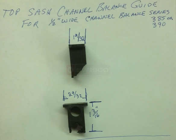 User submitted a photo of a top sash guide.