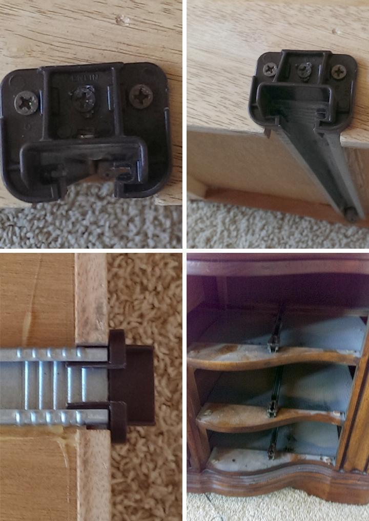 User submitted photos of kenlin drawer hardware.