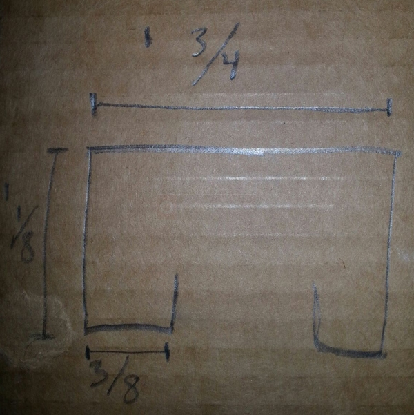 User submitted a diagram of a pocket door track.