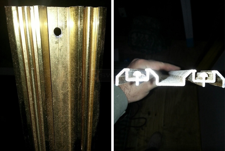 User submitted photos of mirror door track.