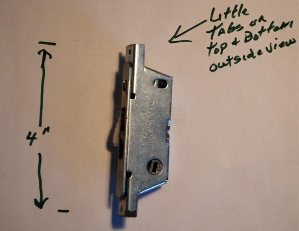 Mortise Lock For Pella Designer Series Sliding Patio Door