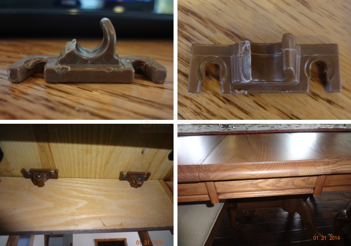 User submitted photos of table hardware.