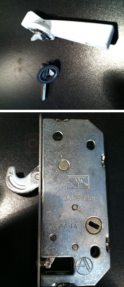 A customer submitted image of their door lock hardware.