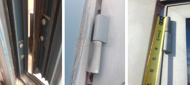User submitted photos of commercial door hardware.