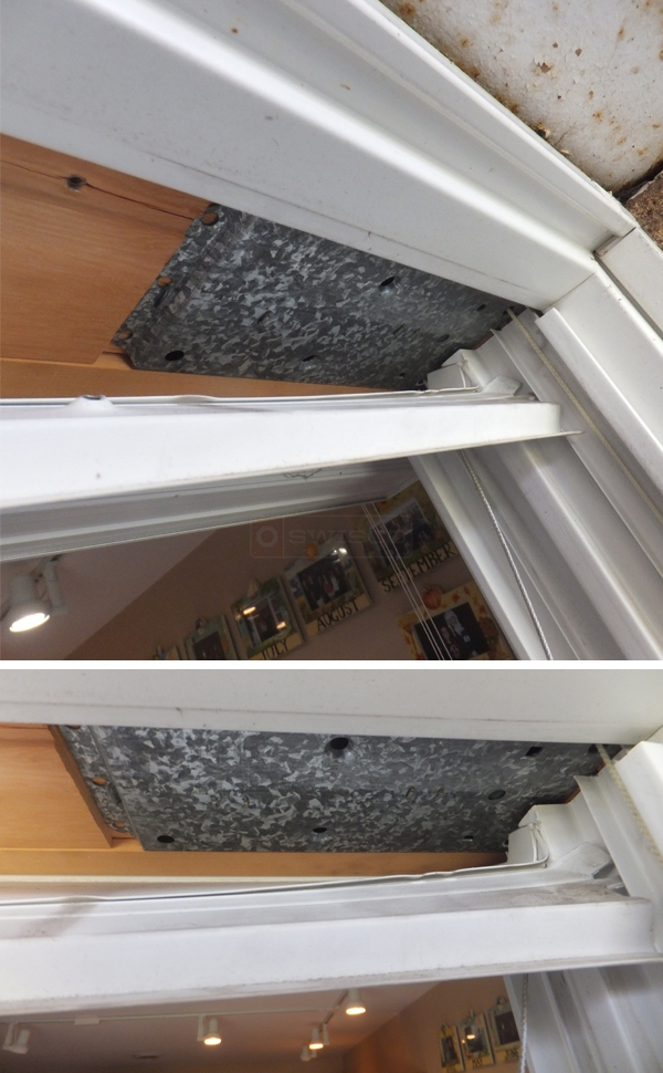 User submitted photos of an Andersen window balance.