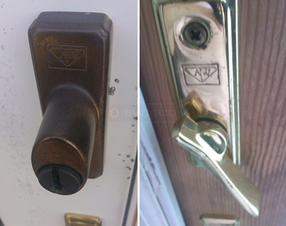 User submitted a photo of an Andersen door lock.