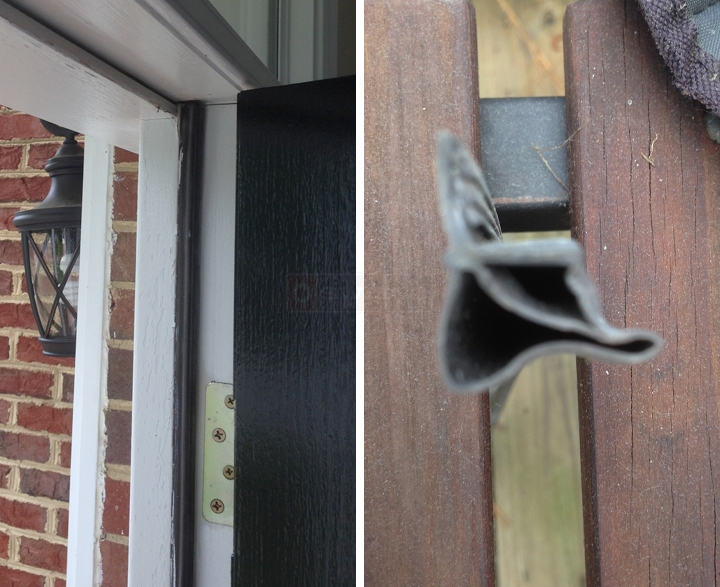 User submitted photos of weatherstripping.
