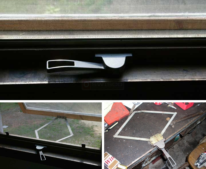 User submitted photos of an awning window operator.