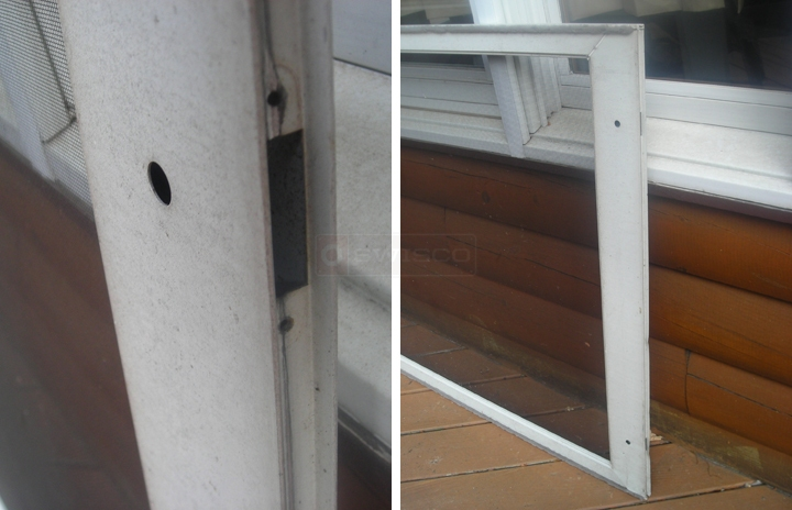 User submitted photos of a patio screen door.