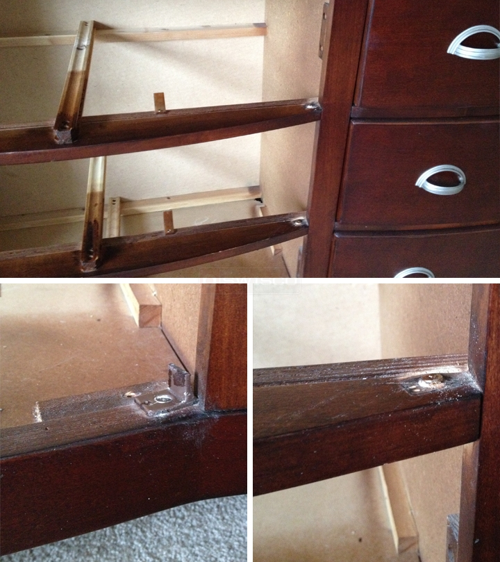 User submitted photos of a drawer glide.