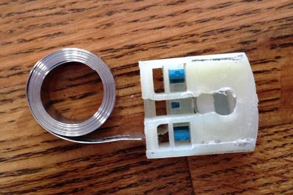 User submitted a photo of a coil window balance.