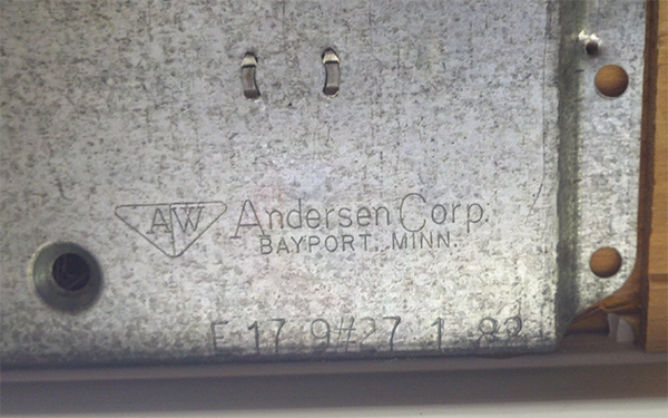 User submitted a photo of an Andersen window balance.
