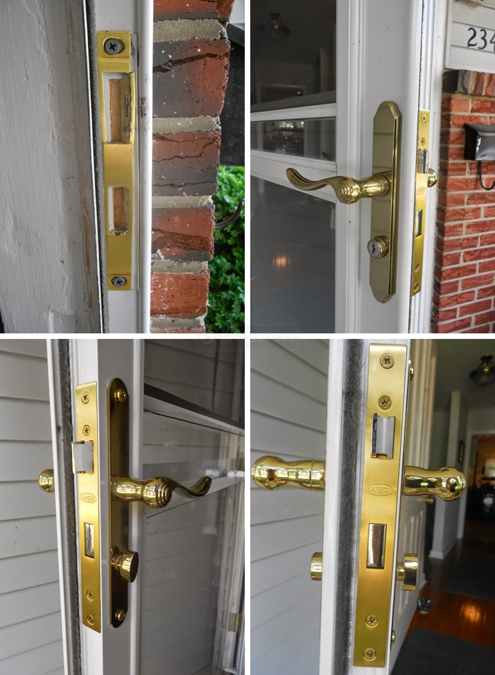 User submitted photos of a door handle set.