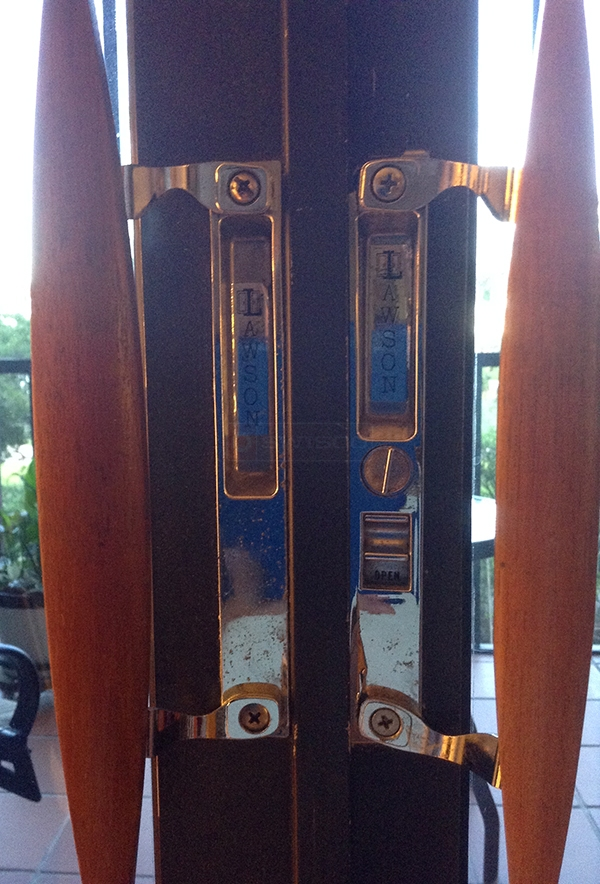User submitted a photo of patio door handles.
