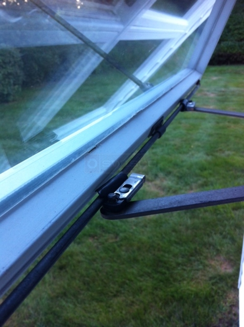 User submitted a photo of awning window hardware.