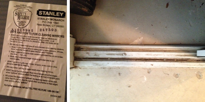 Stanley 48 Sliding Mirror Doors Replacement Bottom Track Swisco