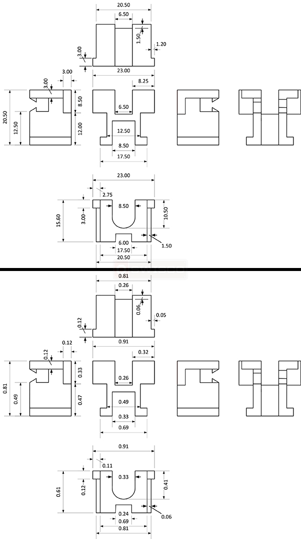User submitted diagrams of window balance parts.