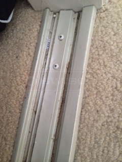 User submitted a photo of mirror closet door track.
