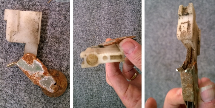 User submitted photos of a screen door roller.
