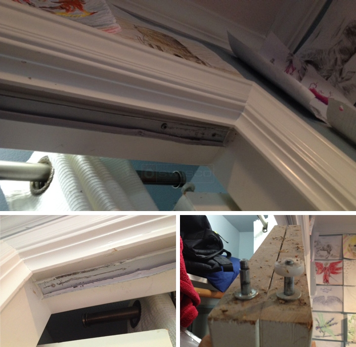 User submitted photos of a bi-fold door hardware.