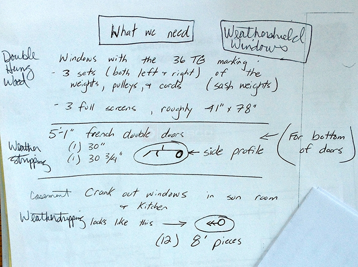 User submitted a diagram of weatherstripping.