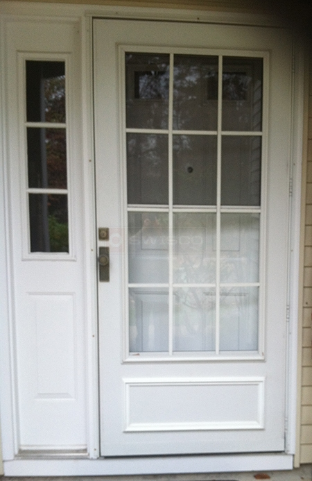 User submitted a photo of storm door hardware.