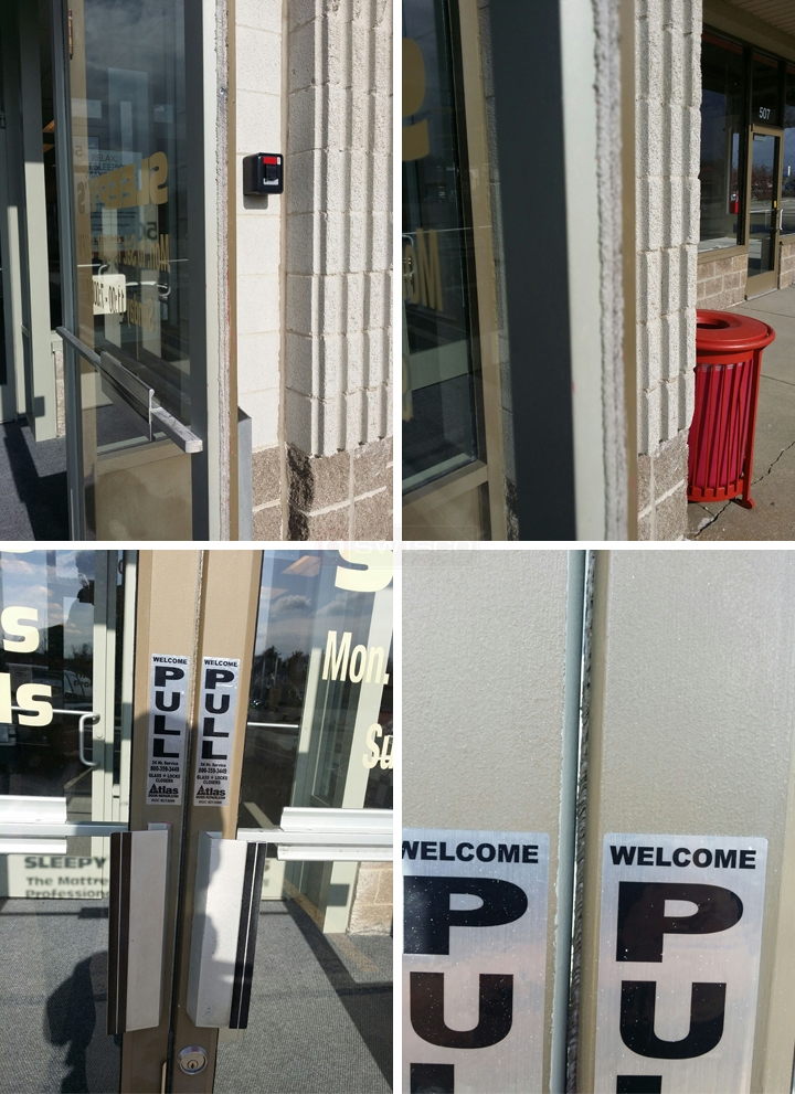 User submitted photos of a commercial door.