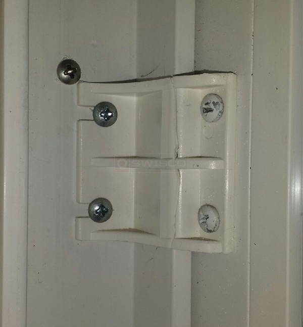 User submitted a photo of a patio door bracket.