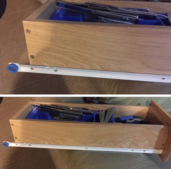 User submitted photos of a drawer slide.