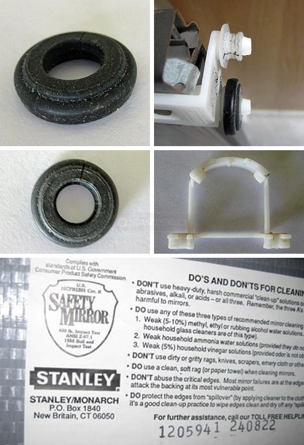 Replcement Parts For Stanleymonarch Slicing Mirror Door