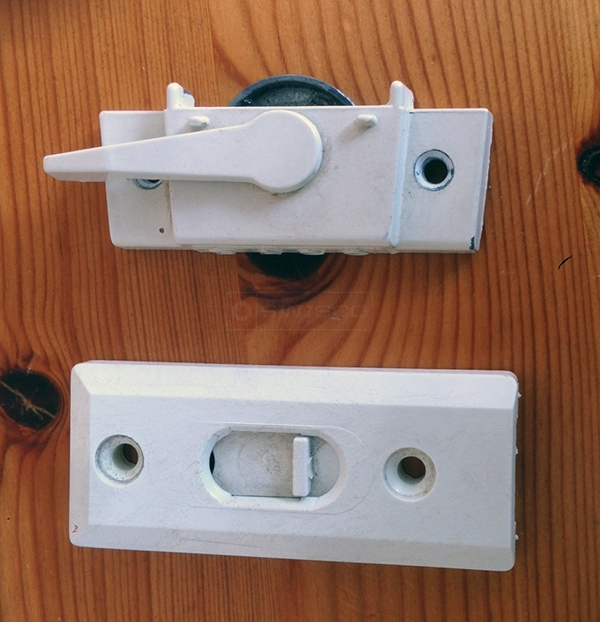 User submitted a photo of a window lock & tilt latch.