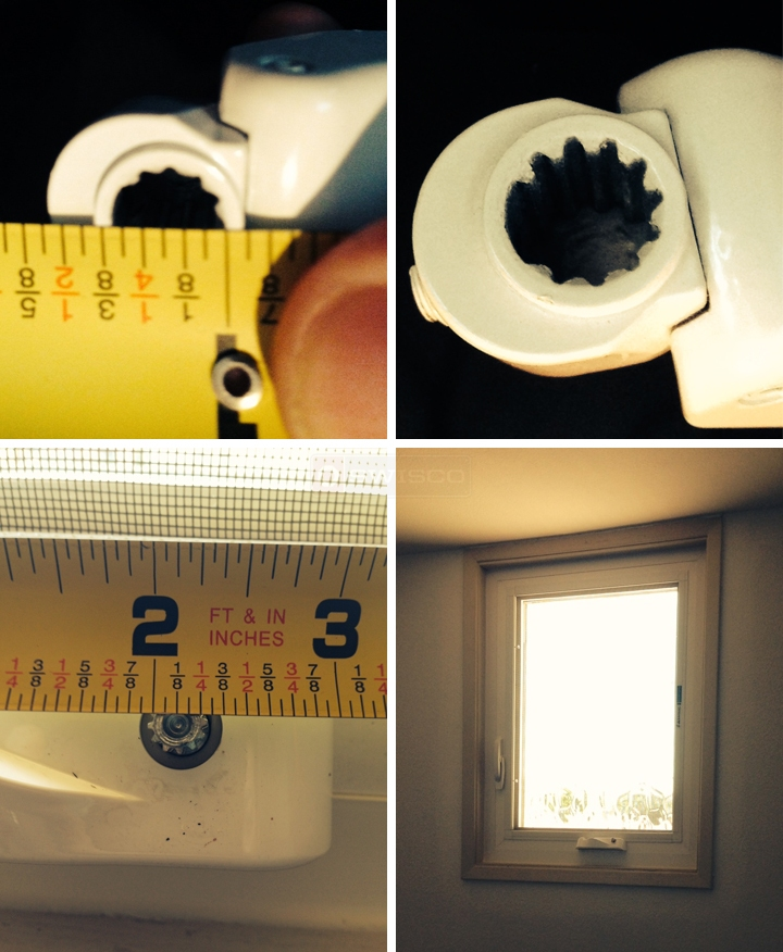User submitted photos of skylight hardware.