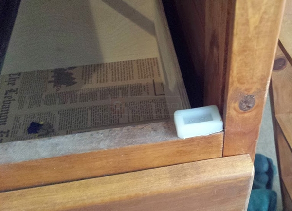 User submitted a photo of drawer hardware.