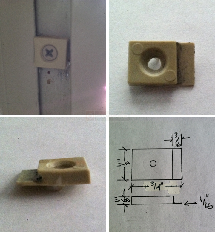 User submitted photos of a window guide.