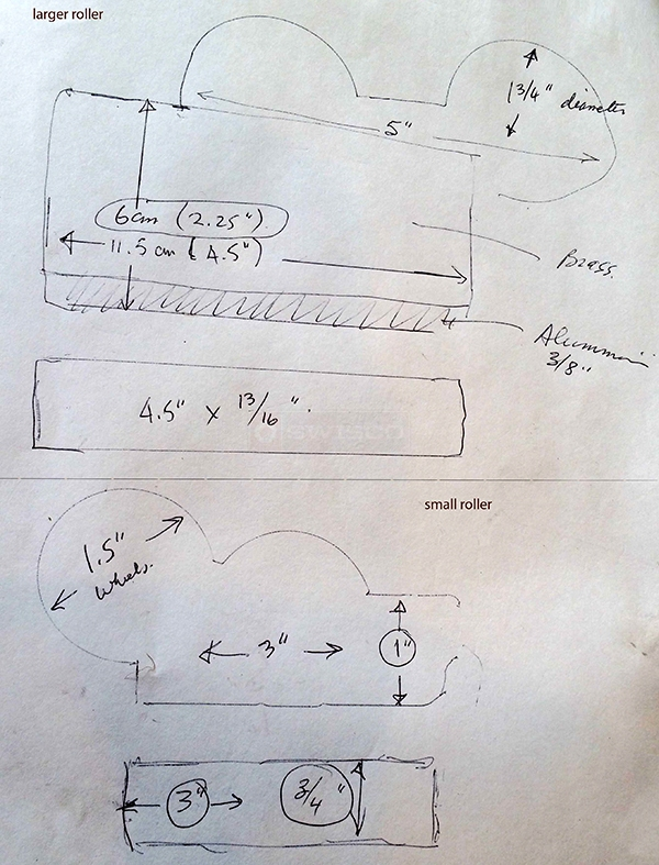 User submitted a diagram of a patio door roller.