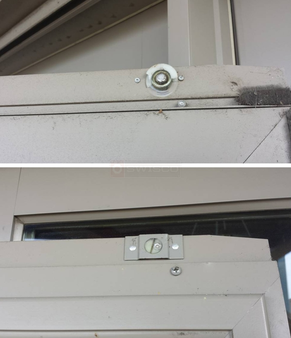 User submitted photos of screen door rollers.