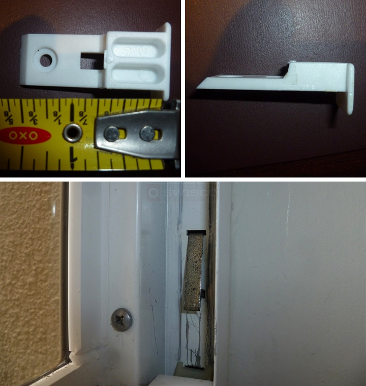 User submitted photos of a top sash guide & take out clip.